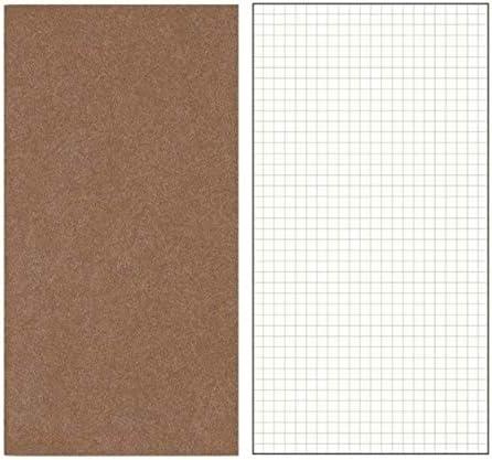 Laifeng ZIMO, Kraft Reisenden Notebook Vintage-Notebook Handgemachte Journal echtes Leder Tagebuch, Größe: 12x21cm (Grauweiß) (Color : Brown Grid)