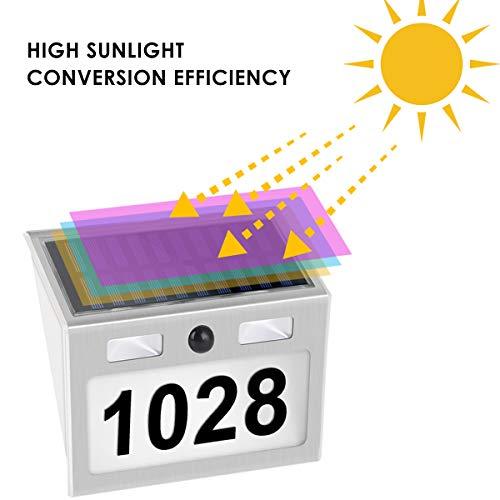Buy solar powered address plaque