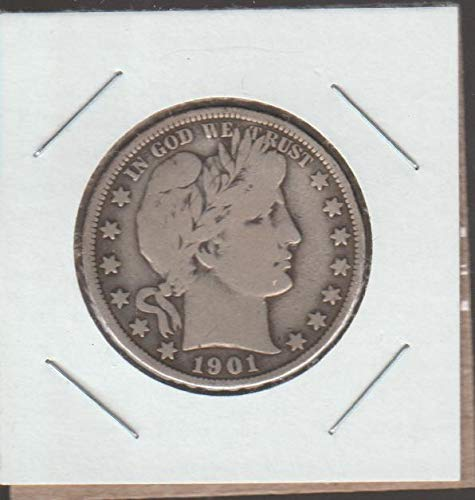 (1901 Barber or Liberty Head (1892-1915) Half Dollar Fine -)