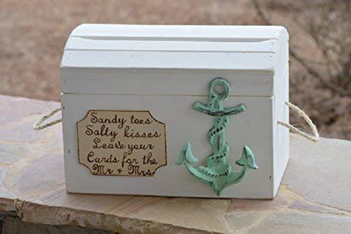 Beach Card Box Anchor Theme Nautical Wedding Reception Card Holder