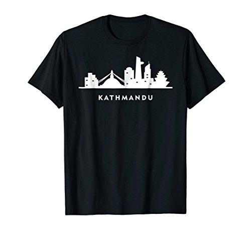Kathmandu shirt. Nepalese Himalayas Nepal flag city skyline -