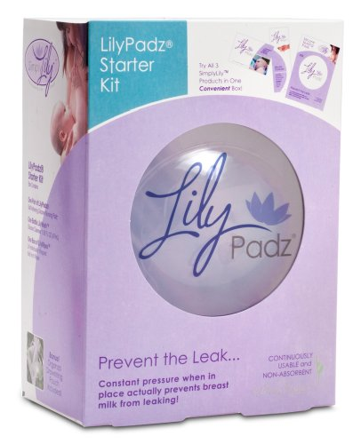 LilyPadz Reusable Silicone Nursing Pads Starter Kit Single Pair Large Size by LilyPadz