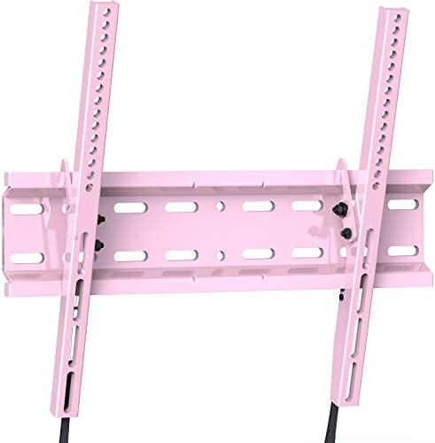 Tilting TV Wall Mount Bracket Low Profile for Most 23-55 Inch LED, LCD, OLED, Plasma Flat Screen TVs with VESA 400x400mm Weight as much as 115lbs via PERLESMITH, Pink