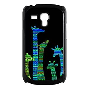 Colorful Aztec Tribal Giraffe Protective Hard PC Back Fits Cover Case for Samsung Galaxy S3 SIII Mini i8190