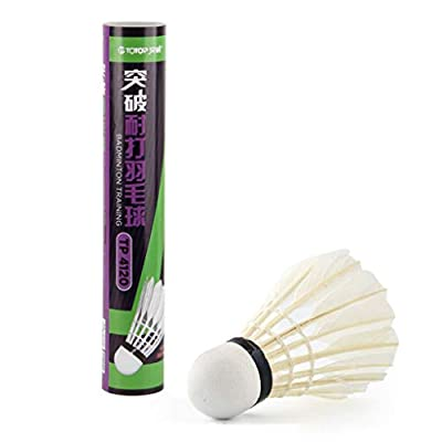 Wenini 12 Pack Badminton Shuttlecocks Feather Birdies Shuttlecock Badminton Family Student Exercise for Indoor/Outdoor Sports Activities : Sports & Outdoors