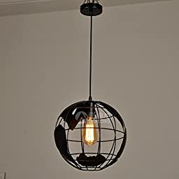 BLYC- Continental design Personality Chandelier creative interior light Wrought iron Chandelier art globe Chandelier , Black