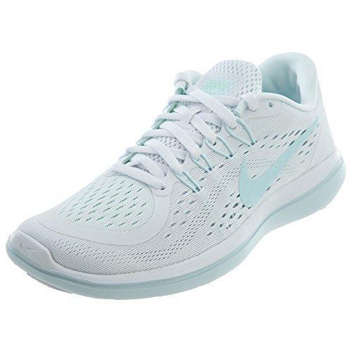 NIKE Women's Flex 2017 RN White/Glacier Blue-Blue Tint Running Shoes (9.5 B -