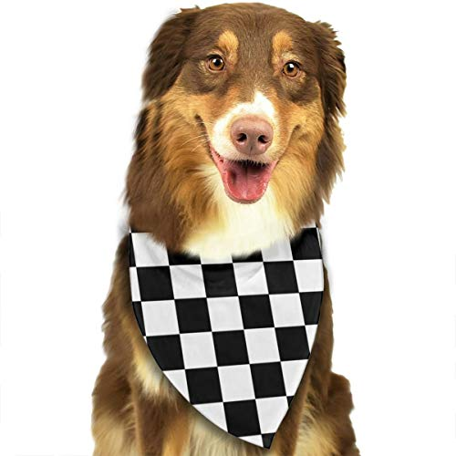 NOWDIDA Checkerboard Dog Bandana - Small Medium and Large Bandanas for Every Occasion Or Holiday - Easy to Tie On Your Cats Or Dogs Or Puppy - Comfortable and Stylish Pet Accessories