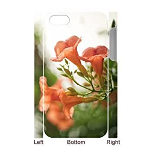 3D Yearinspace Bokeh Flowers IPhone 4/4s Case Pink Flowers Bokeh 2 for Guys Design, Case for Iphone 4 for Guys Design [White] by icecream design