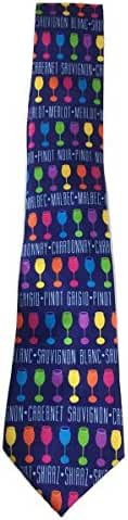 Stonehouse Collection Men's Wine Tie - Wine Glass Theme Neckite