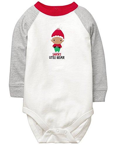 Gymboree Baby Boys Raglan Long Sleeve Bodysuit, Elf, 18-24 Mo