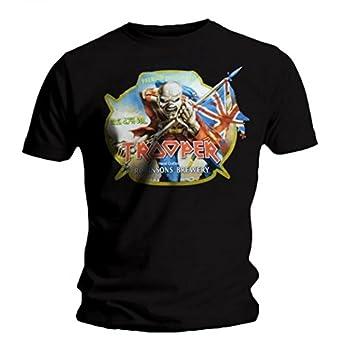 dd1cc4930 Iron Maiden T-shirt - Trooper Robinsons Beer: Amazon.co.uk: Clothing