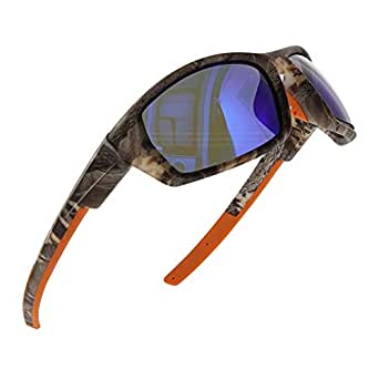 GS&GM TR90 Camouflage Sports Sunglasses Polarized Sunglasses Driving Sunglasses Cycling Sunglasses Running Sunglasses for Men and Women