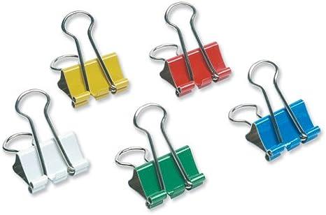 5Star–Pinzas de clip (19mm varios colores [Pack de 12]