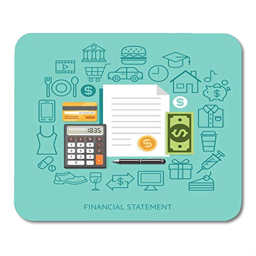 Boszina Mouse Pads Payment Financial Statement Conceptual Flat Style Workflow Diagram Number Options Infographics Timeline Mouse Pad for notebooks,Desktop Computers mats 9.5