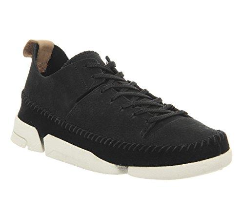 Clarks Originals Trigenic Flex Vrouwen Sneakers Zwart Nubuck