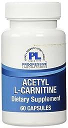 Progressive Labs Acetyl-L-Carnitine Supplement, 60 Count