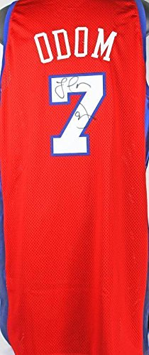 Clippers Lamar Odom Signed Game Used 2001-2002 Jersey W COA From LAC  Foundation 02722559d
