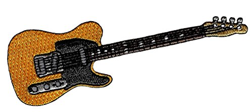Electric Guitar #2 Embroidered Patch Iron-On Rock Roll Musical Instrument -
