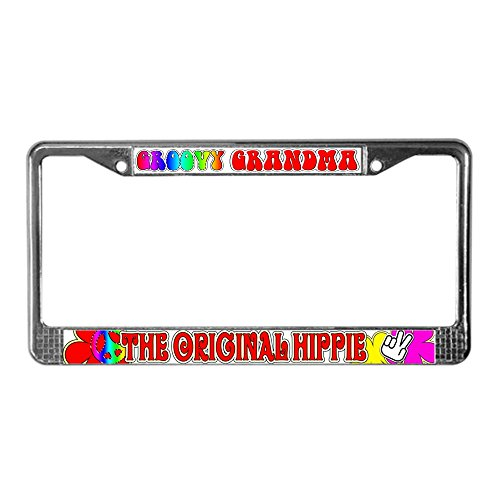 randma License Plate Frame - Chrome License Plate Frame, License Tag Holder (Groovy Gift)
