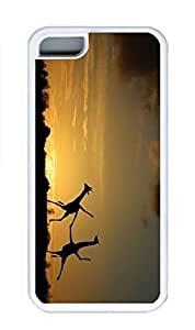 iPhone 5C Case, Personalized Custom Rubber TPU White Case for iphone 5C - Sunset Scense Cover