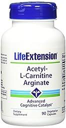 Life Extension Acetyl-l-Carnitine Arginate Veggie Caps, 90 Count