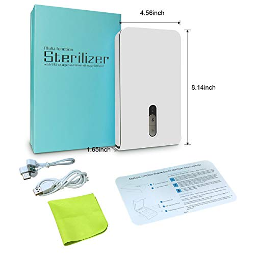 Mobitizer Mobile Sanitizer Portable UV Light Cell Phone Sterilizer Aromatherapy Function with Charging for iPhone Android Smart Phone (White)