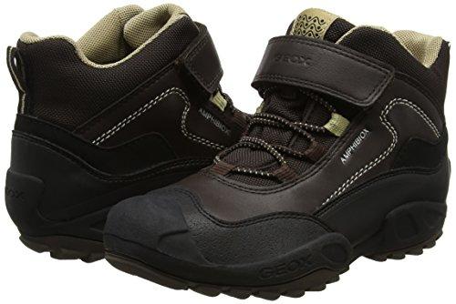 New J brown B Savage Marrone Collo Sneaker Alto beige A Bambino Geox Abx A 51AwBnwCq