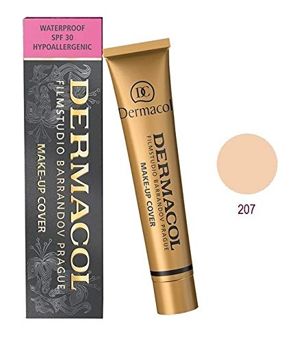 (Dermacol Make-up Cover - Waterproof SPF 30 Hypoallergenic Foundation 30g 100% Original Guaranteed from Authorized Stockists (207))