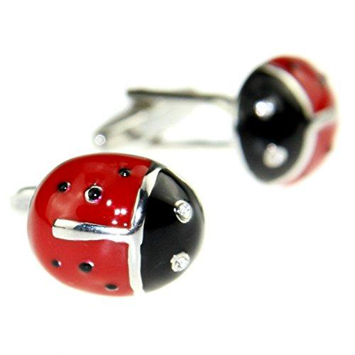 Ladybug Enamel Links (Enwis Men's Cuff Link Cufflinks Red Ladybug Toned)