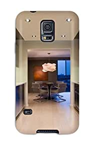 New Modern Kitchen With Stainless Cabinetry And Appliances With Light Hardwood Floors Tpu Case Cover, Anti-scratch QqiBudC1826xXokt Phone Case For Galaxy S5 by lolosakes