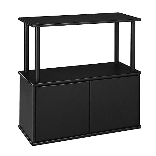 Aquatic Fundamentals Black Aquarium Stand with Storage Cabinet - for 10 and 20 Gallon Aquariums, 25 ()