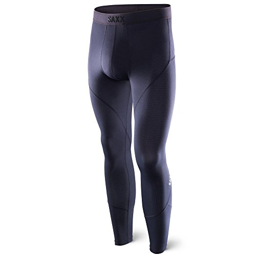 Mens Long Tight - Saxx Men's Kinetic Tight Boxers Underwear Medium Blackout