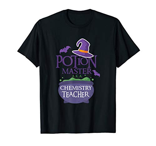 Chemistry Teacher Funny Halloween Shirt School POTION MASTER