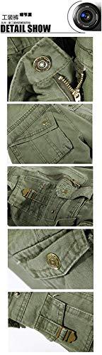 Da Tasche In Nero Qualità Con Pantaloni Grigio Uomo Abbigliamento Cargo Chiusura Lavoro Lunghi Cotone Outdoor Laterali Alta gHHCqwz5x