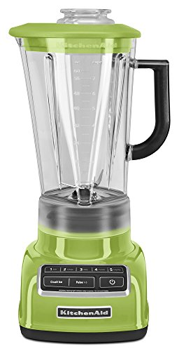 (KitchenAid KSB1575GA 5-Speed Diamond Blender with 60-Ounce BPA-Free Pitcher - Green Apple)