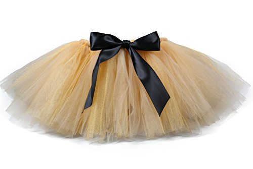 Tutu Dreams Toddler Girl Fluffy Tulle Brown Skirts Ballet (2- for 1-2T, Champange) ()