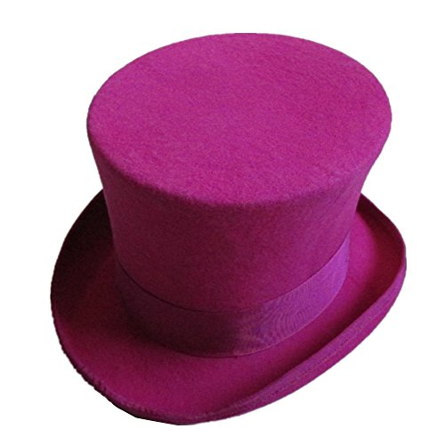 Women Rose Wool Felt Top Hat Steampunk Mad Hatter 7
