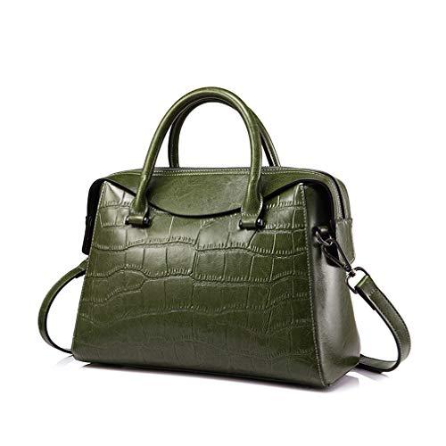 et Sac vert bandoulière femmes à cuir en pour noir xqzg1n