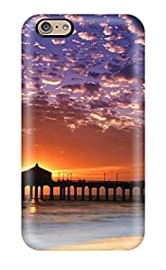 SYIhAAO7797OxcEx Colorful Sky Manhattan Beach Awesome High Quality Iphone 6 Case Skin