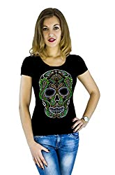 Skull t-Shirt with Hot-Fix Sequins