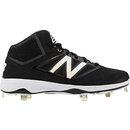 Ny Balans Midcut 4040v3 Mens Dämpning Metall Baseball Knap Svart-vit