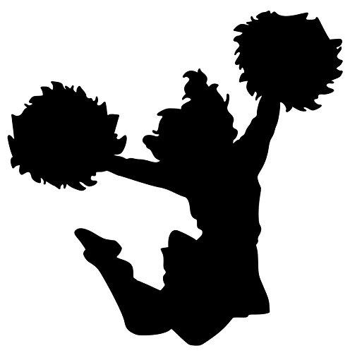 - Minglewood Trading Cheerleader Varsity Sports JV Football Cheerleading Vinyl Decal Sticker 5