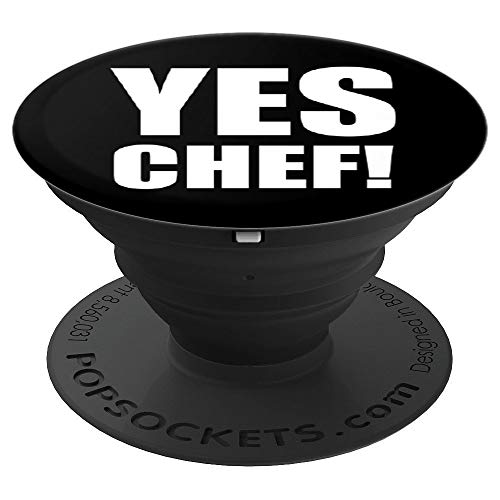 Funny Yes Chef! Christmas gift for women, men or kid chefs - PopSockets Grip and Stand for Phones and Tablets