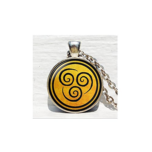 Avatar the Last Airbender Pendant Air Nomad Necklace Glass Cabochon Round Dome necklace bijouterie Movie - Avatar Glasses