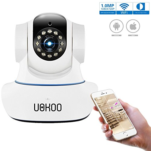 Wireless Camera, UOKOO Security Surveillance Camera System 720p HD with 2-Way Audio and Night Vision, Baby Monitor Nanny Cam