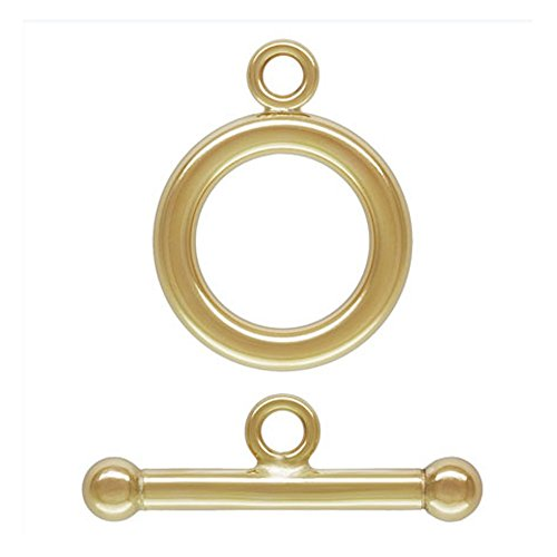 2 Qty. 14K Gold Filled 12mm Toggle Clasp by JensFindings (Gold Toggle 14k Filled)