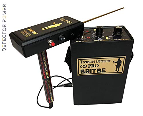 Britbe G3 Pro Long Range Metal Detector - Professional Gold Finder and Deep Seeking Geolocation Tracker - Discover Gold, Silver, Coins, Jewelry, and Treasure