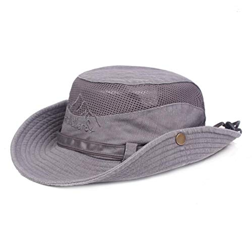 064bf609d AStorePlus Boonie Cap for Men, Stylish Embroidery Foldable Wide Brim  Breathable Cotton Safari Sun Hat for Outdoor Hunting Fishing
