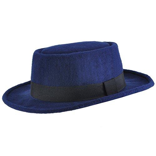 Chapeau Pork Pie réglable STACY Bleu